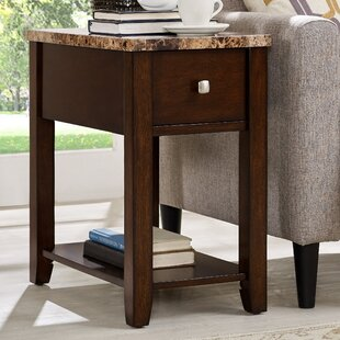 End Table With Storage by Roundhill Furniture