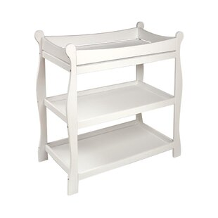 Check Prices Sleigh Style Baby Changing Table By Badger Basket