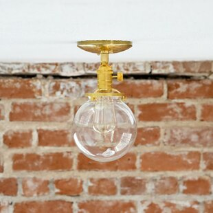 Industrial 1-Light Semi Flush Mount by Illuminate Vintage