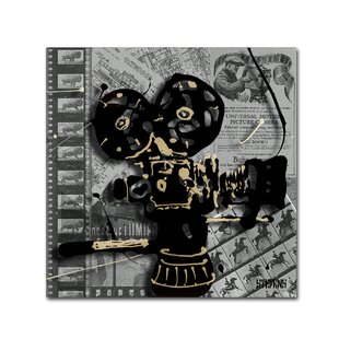 Movie Camera by Roderick Stevens Graphic Art on Wrapped Canvas by Trademark Fine Art