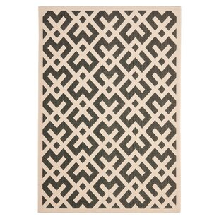 Jefferson Place Black & Beige Indoor/Outdoor Area Rug
