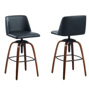 Ault Adjustable Height Bar Stool (Set of 2) by Williston Forge