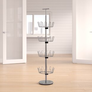 Purchase Revolving 4-Tier 24 Pair Shoe Rack By Rebrilliant