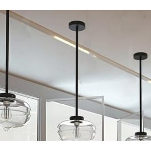 Rutledge 1-Light Schoolhouse Pendant by World Menagerie