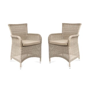 Yana Patio Dining Chair with Cushion (Set of 2)