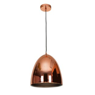 Modern copper pendant lighting damion contemporary 1 light cone pendant aloadofball Images