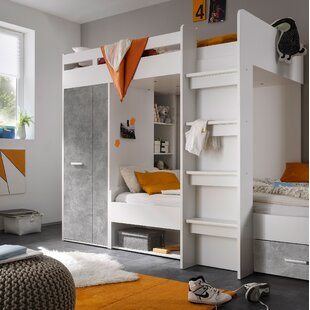 Hebert Single Bed With Shelf And Drawers By Isabelle & Max