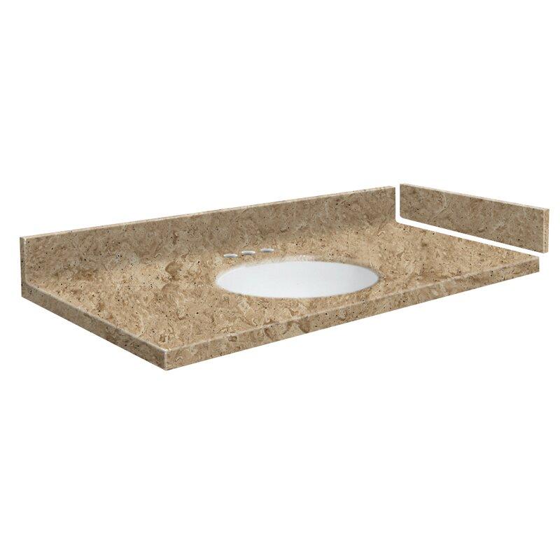 Transolid Newport 29 Solid Surface Single Bathroom Vanity Top Wayfair