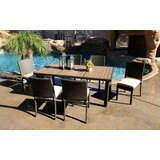 Hasan 7 Piece Dining Set with Cushions