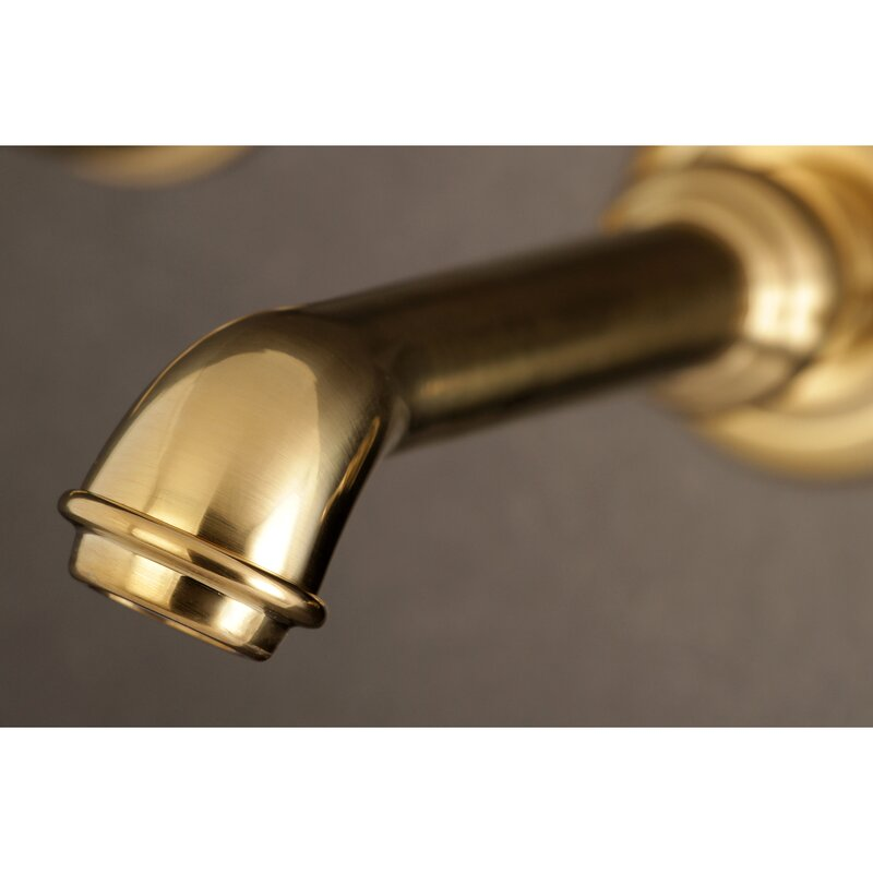 Kingston Brass French Double Handle Wall Mounted Tub Spout Wayfair