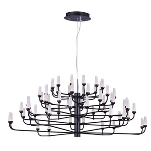 Orren Ellis Cygnus 60-Light Shaded Chandelier