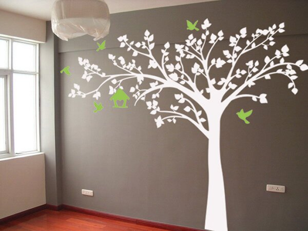 Big Tree With Love Birds Wall Decal Part 32