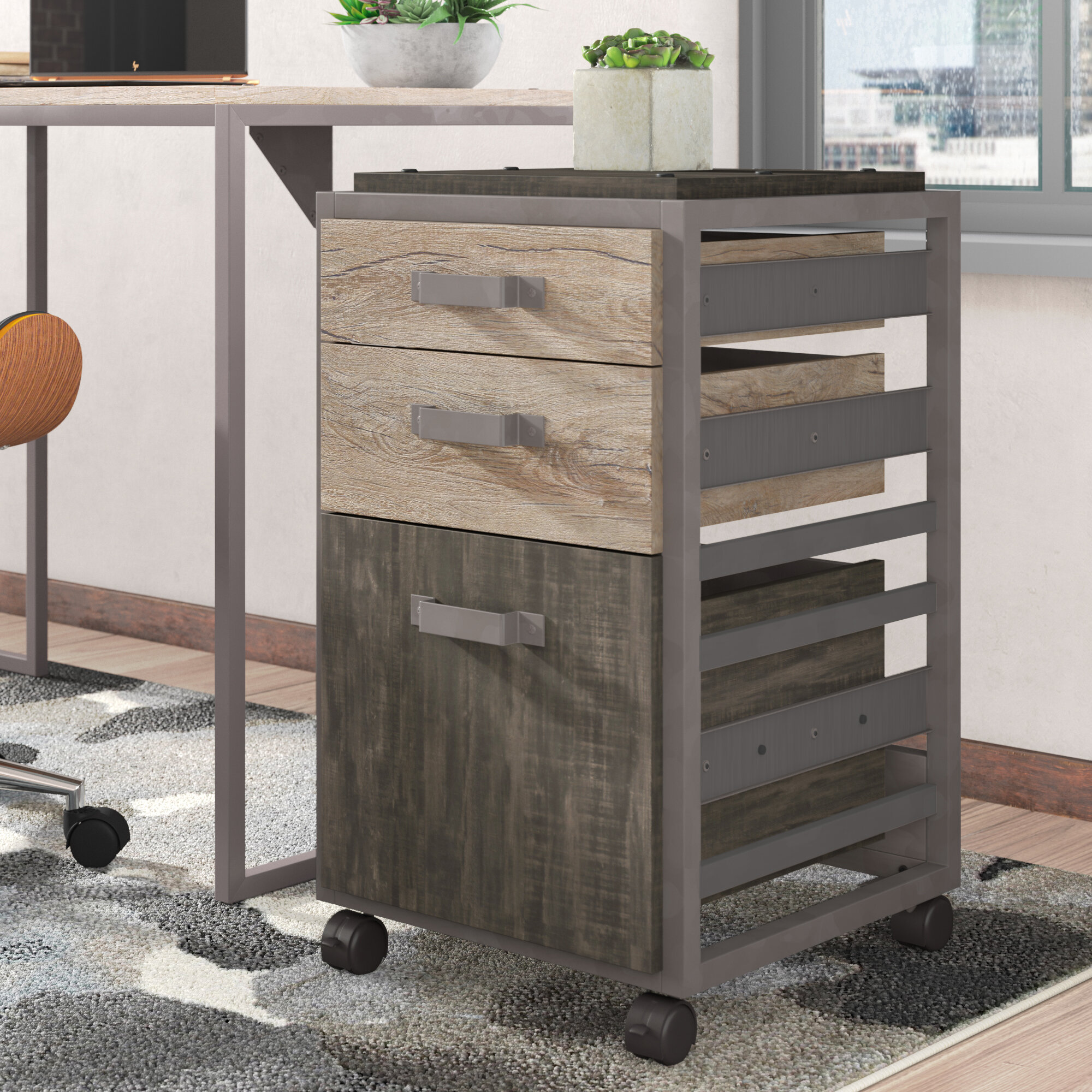 Greyleigh Rosemarie 3 Drawer Mobile Vertical Filing Cabinet Reviews Wayfair