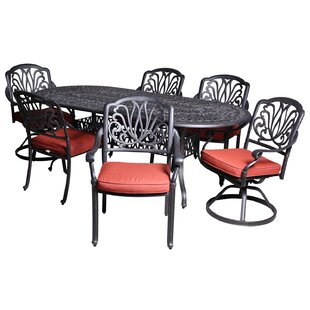 Baumgardner 7 Piece Dining Set with Sunbrella Cushions by Darby Home Co