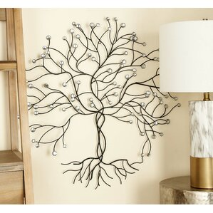 White Metal Wall Decor tree & nature metal wall art you'll love | wayfair