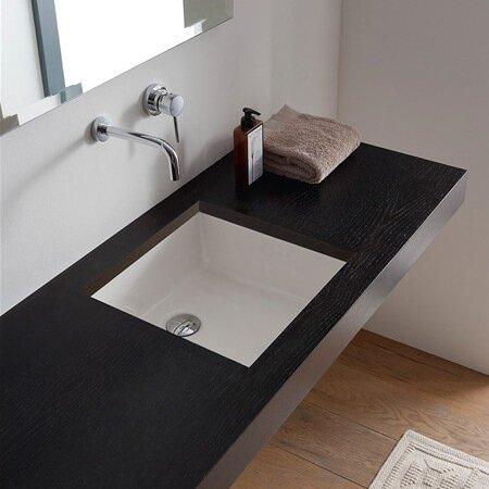 Miky Ceramic Square Undermount Bathroom Sink