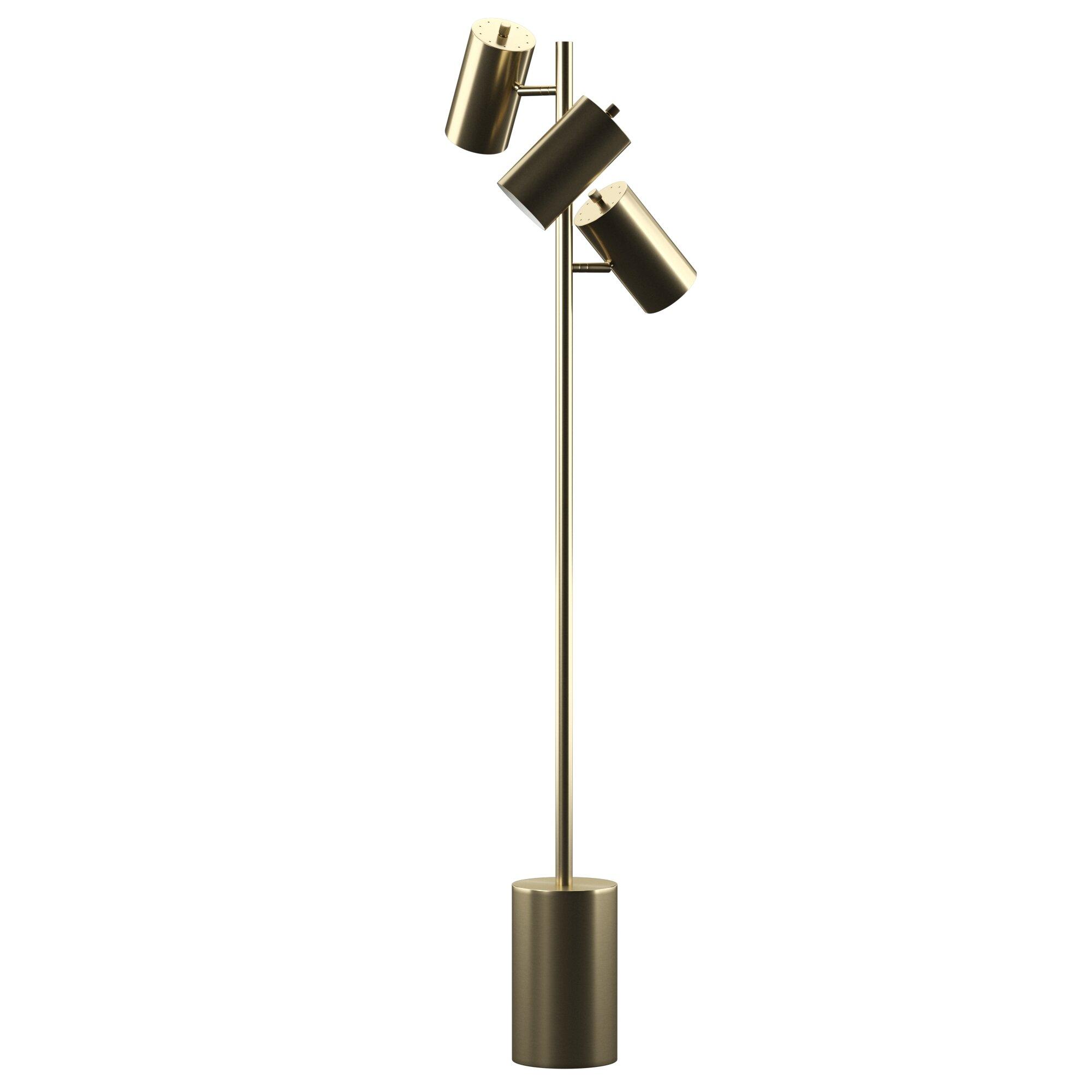 Mercury Row Mcdorman 3 Adjule Head 63 Tree Floor Lamp Reviews Wayfair