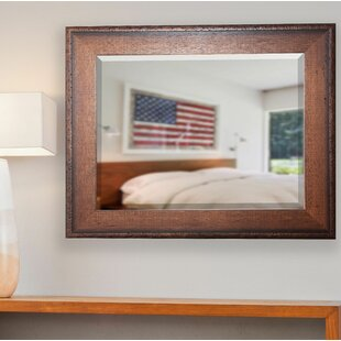 Wood Frame Timber Estate Wall Mirror By Loon Peak