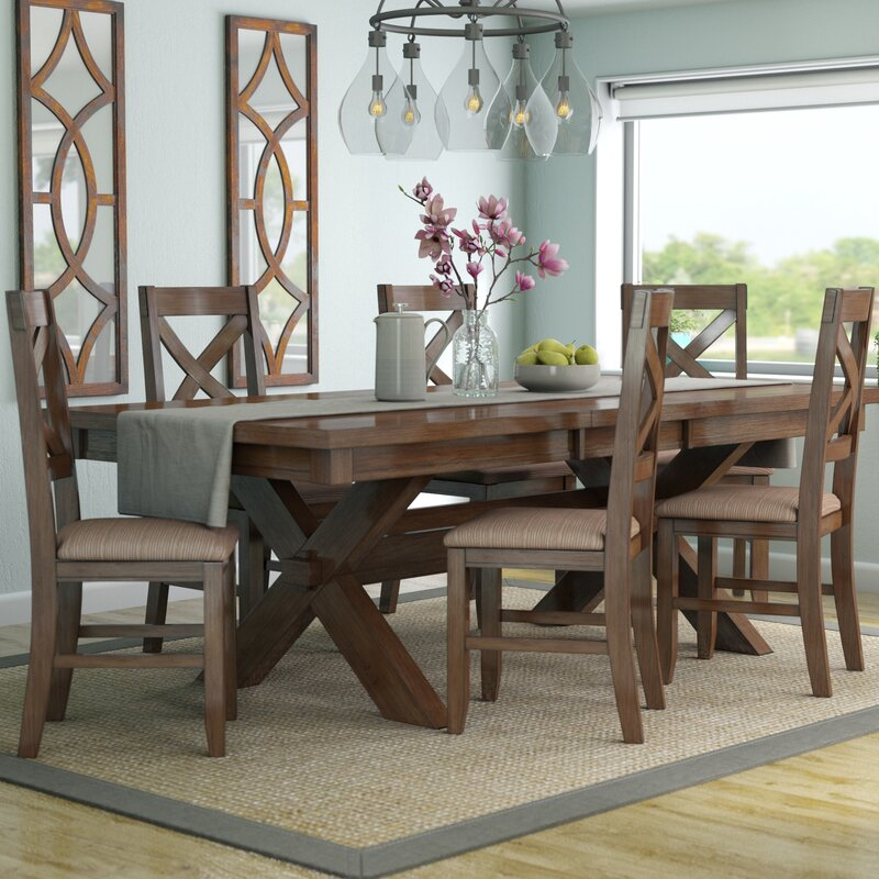 4520271f3378 Laurel Foundry Modern Farmhouse Isabell 7 Piece Solid Wood Dining ...