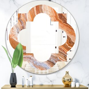 Marbled Geode 2 Quatrefoil EclecticFrameless Wall Mirror by East Urban Home