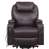 Power Lift Assist Leather Reclining Heated Massage Chair by Latitude Run®