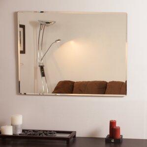 Frameless Wall Mirror frameless mirrors you'll love | wayfair