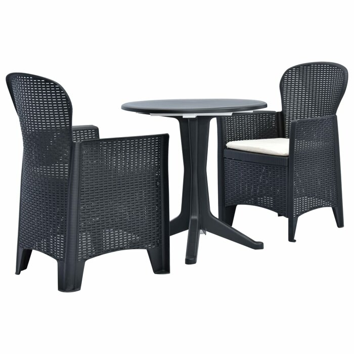 Ebern Designs Tremblant 3 Piece Bistro Set with Cushions | Wayfair