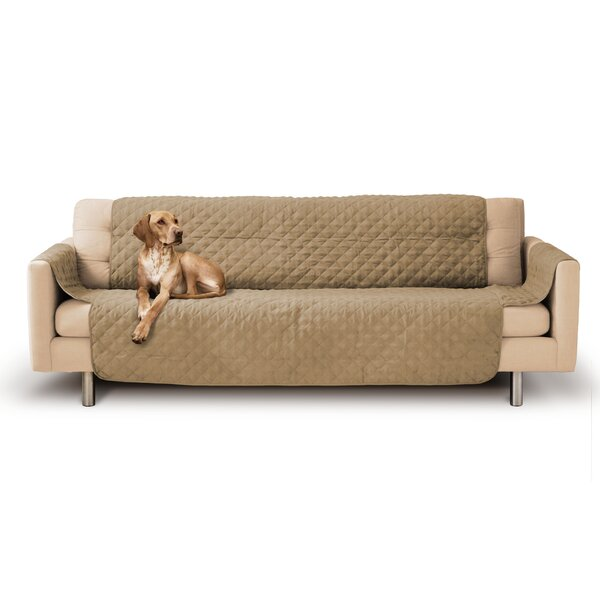 PreciousTails Durable Quilted Box Cushion Sofa Slipcover U0026 Reviews | Wayfair