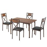 Pinette 5 - Piece Dining Set (Set of 5) by Williston Forge