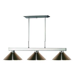 Viki 3-Light Steel Framed Pool Table Light by Red Barrel Studio