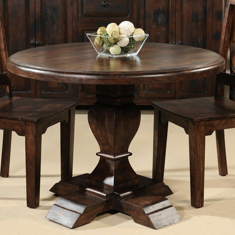 Aishni Home Furnishings Castle Solid Wood Dining Table Wayfair