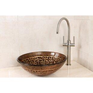 Find the perfect Cagliari Glass Circular Vessel Bathroom Sink ByKingston Brass