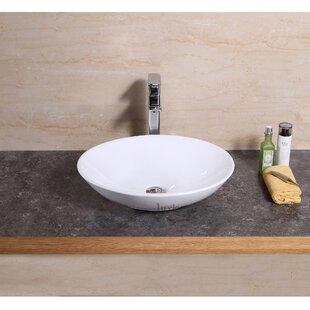 Luxier Vanity Art Basin Ceramic Oval Vessel Bathroom Sink