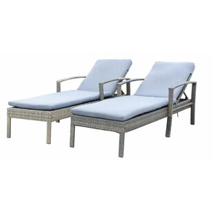 Denika Sun Lounger Set with Cushions (Set of 2)