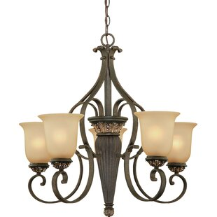 Volume Lighting Bristol 5-Light Shaded Chandelier