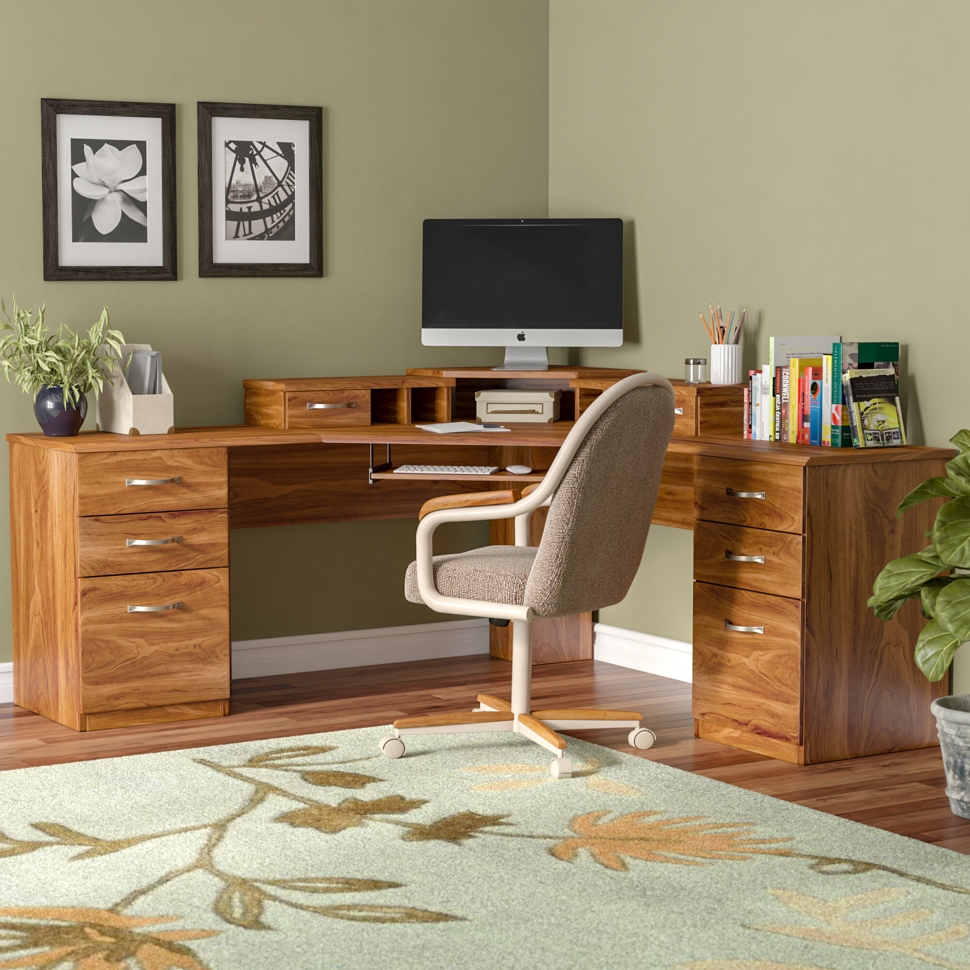 Red Barrel Studio Lewisville Reversible Corner L Shape Executive Desk &