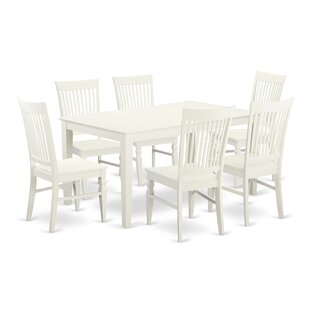 Smyrna 7 Piece Solid Wood Dining Set Charlton Home