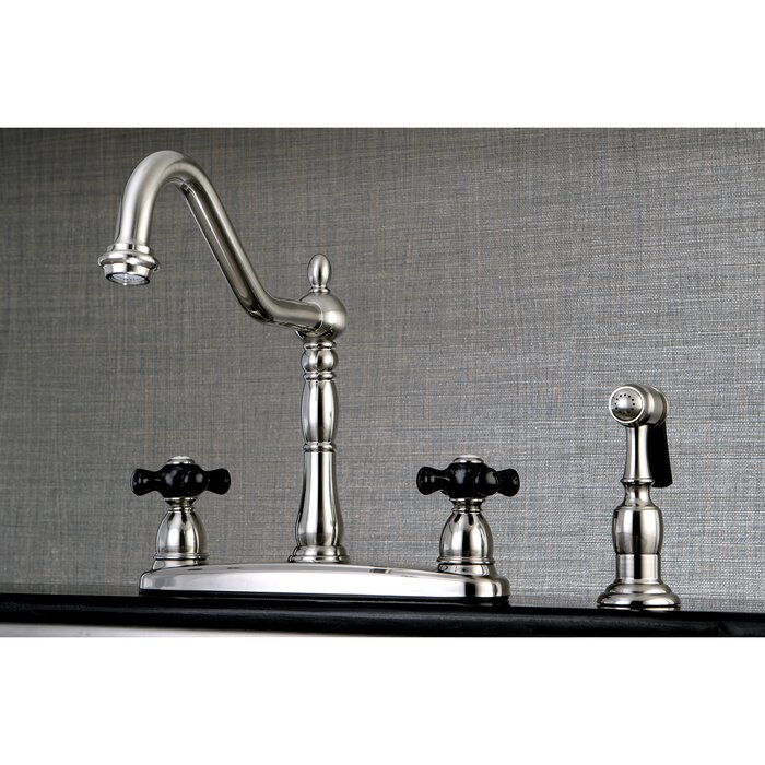 Duchess Double Handle Kitchen Faucet With Side Spray