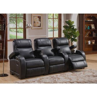 Home Theater 3 Row Recliner By Red Barrel Studio
