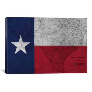 Flags Texas Map Graphic Art on Wrapped Canvas  sc 1 st  Wayfair : texas wall art - www.pureclipart.com