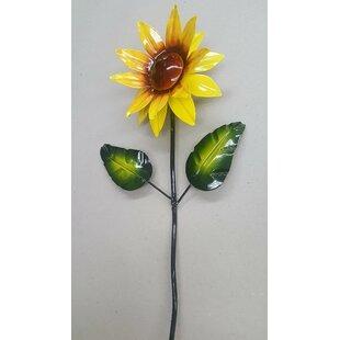 Auto Paint Sunflower Garden Stake (Set Of 3)
