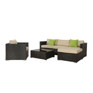 Milliron 6 Piece Rattan Sectional Set with Cushion
