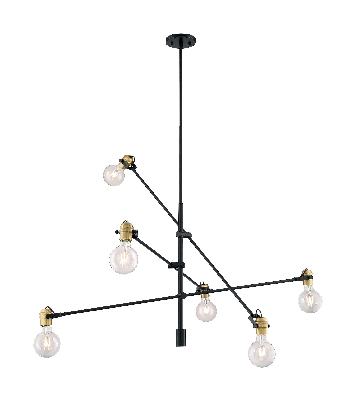 George Oliver Nesmith 6 Light Sputnik Modern Linear Chandelier Wayfair