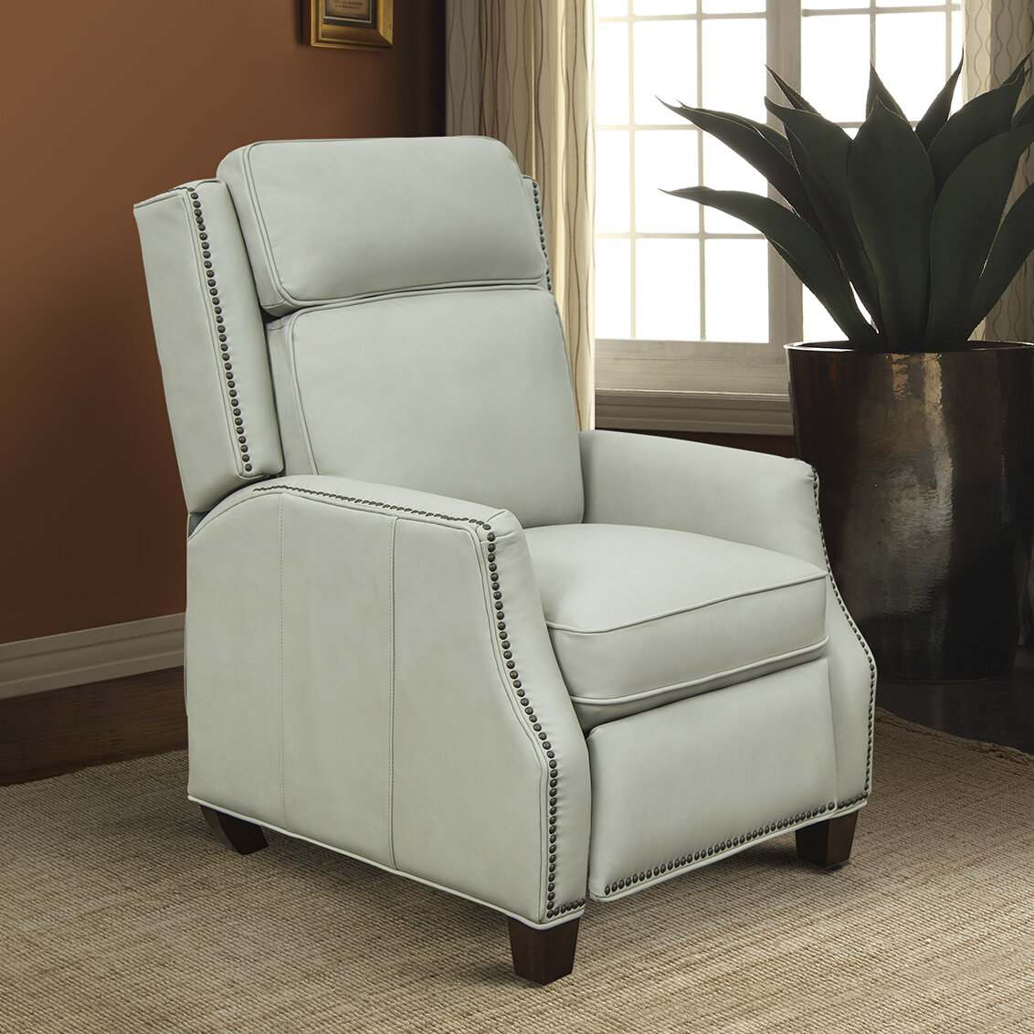 Darby Home Co Kathi Genuine Leather Manual Recliner Wayfair