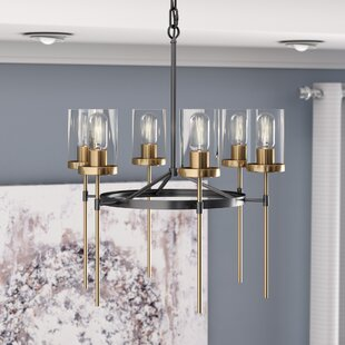 Wade Logan Crewe 6-Light Shaded Chandelier