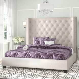 Steph Flannelette Upholstered Platform Bed