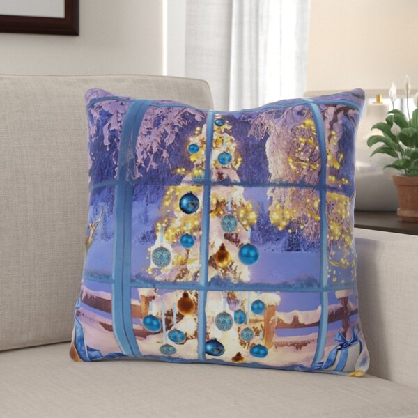 The Holiday Aisle Riggio Christmas Indoor Outdoor Canvas Throw Pillow Wayfair