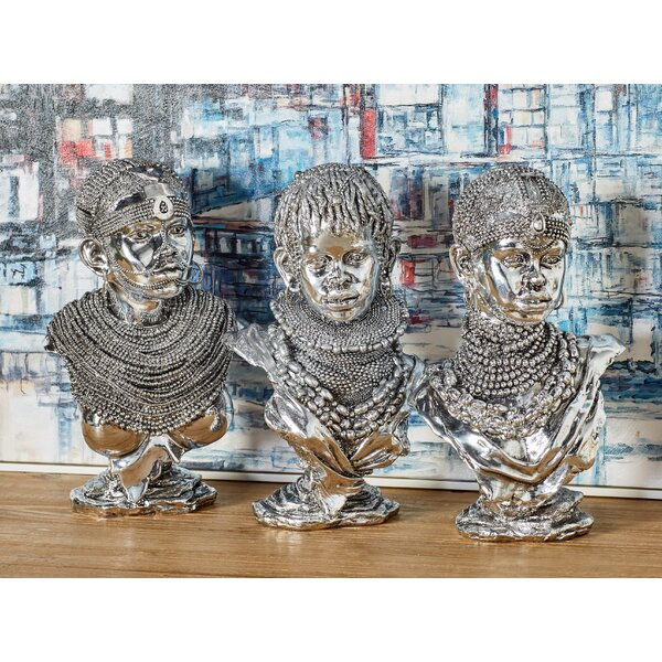 Bloomsbury Market Chamberlan Modern African Lady 3 Piece Bust Set & Reviews by Bloomsbury Market