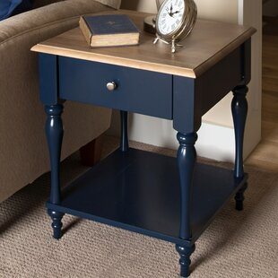 Sophia Wood Top 1 Drawer Nightstand by Kate and Laurel Sale