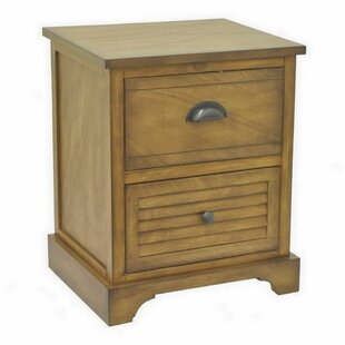 Folse Wood 2 Drawer Chest by Highland Dunes